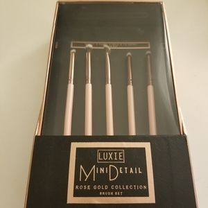 Luxie Mini Detail Rose Gold Collection Brush Set